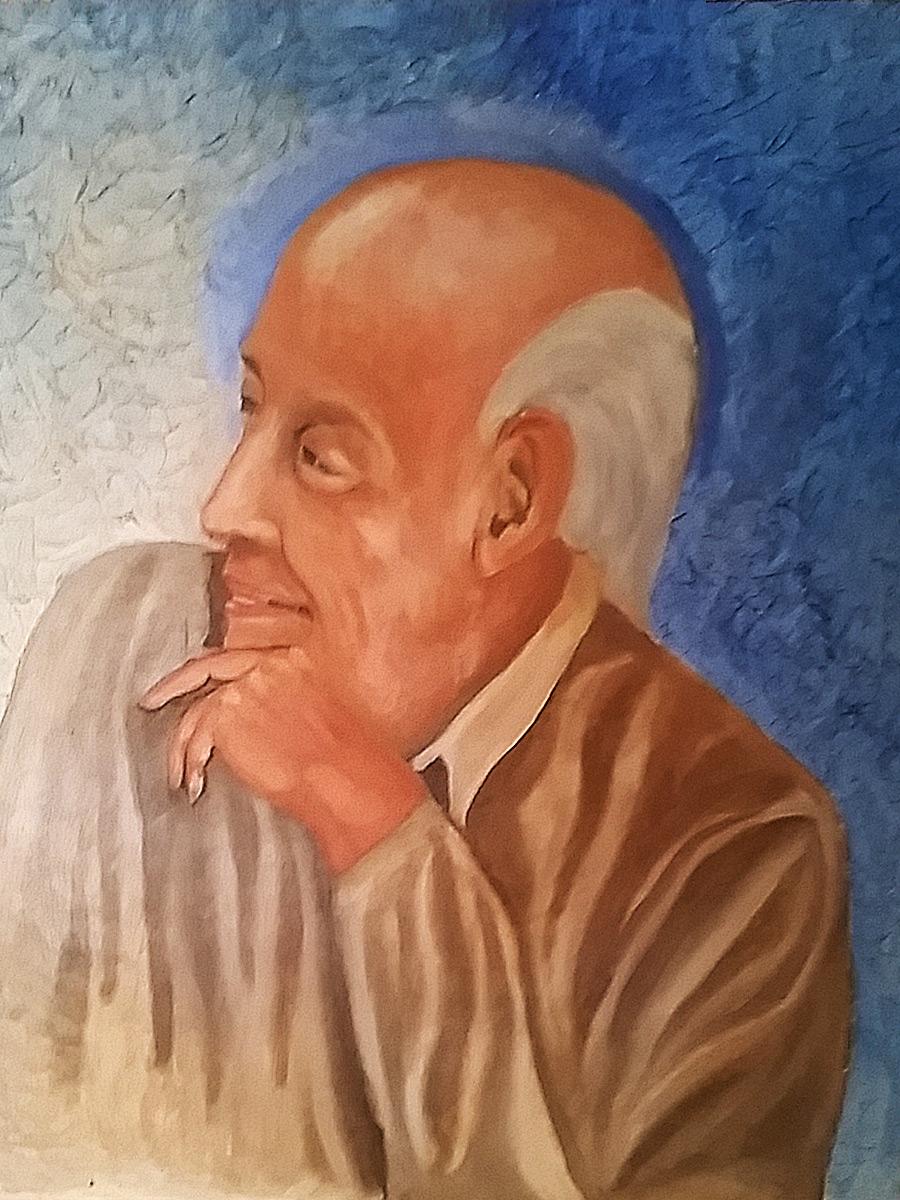 oil on canvas portrait painting my dear friend max